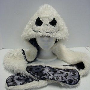 Nightmare Before Christmas Furry Hat Scarf combo